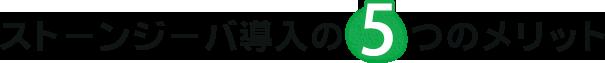ストーンジーバ導入の5つのメリット